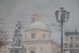 Piazza Carlina sotto la neve